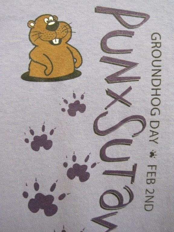 Adult Groundhog Paw T-Shirt Violet 2x, 3x Image a